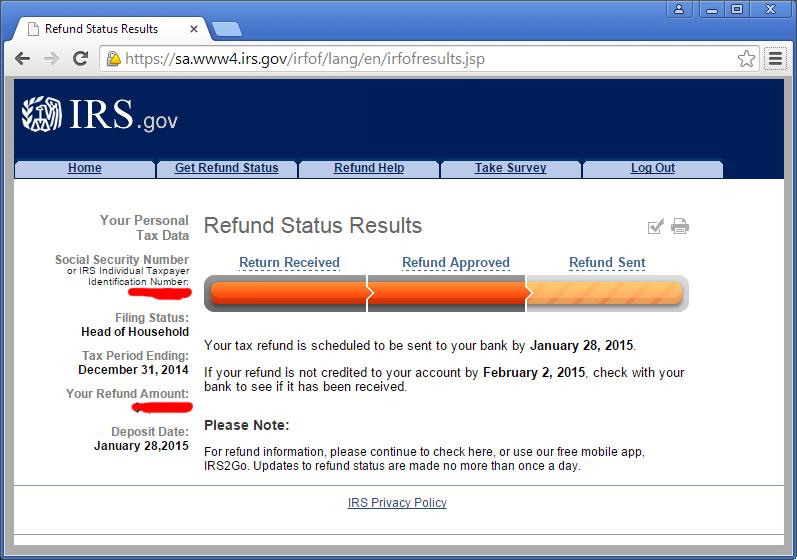 2015 IRS Tax Refund Schedule Refund Direct Deposit Dates. Federal Tax ...