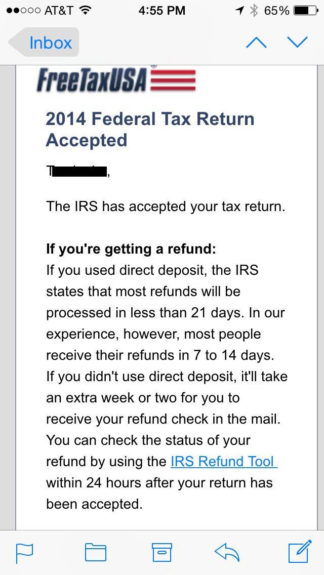 IRS Tax Refund Early