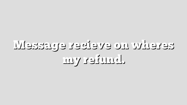 where's my refund - photo #38