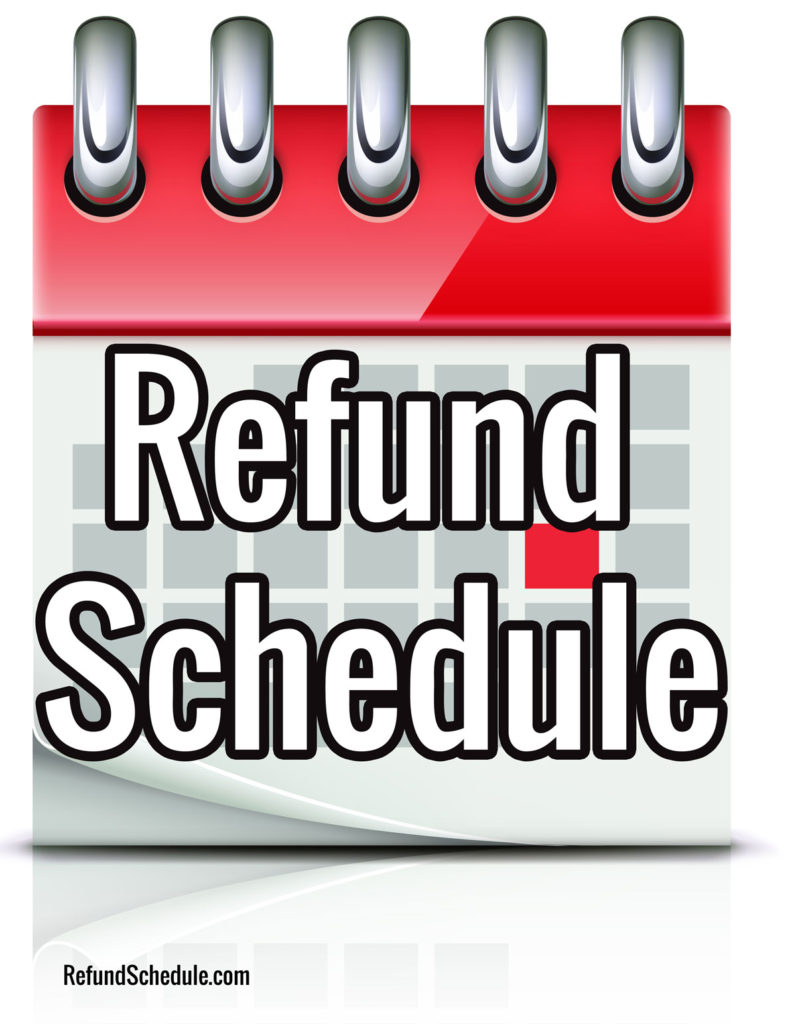IRS Refund Schedule 2019 Refund Cycle Chart for 2018 E-File