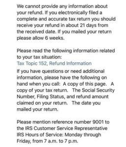 Where S My Refund Message We Cannot Provide Any Information Irs Refund Schedule 2018